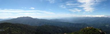 笠ヶ岳山頂からのパノラマ1