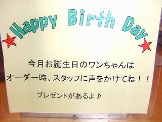 誕生日ふだ