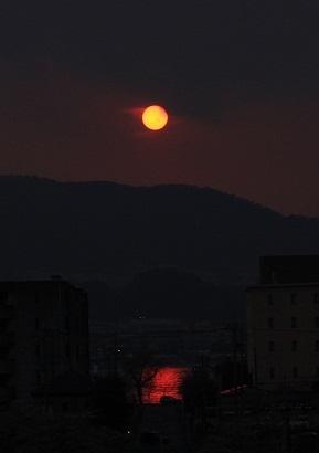 琵琶湖が染まった・・・