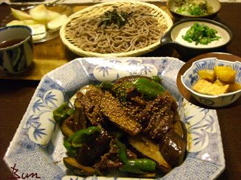 Sep09_牛肉と野菜の味噌炒め