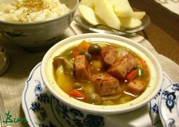 Sep25_フライシュケーゼと野菜のスープ
