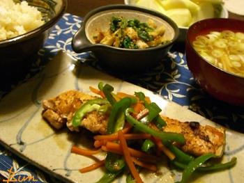 Oct16_鮭の生姜焼き