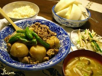Oct22_里芋と豚肉の煮物