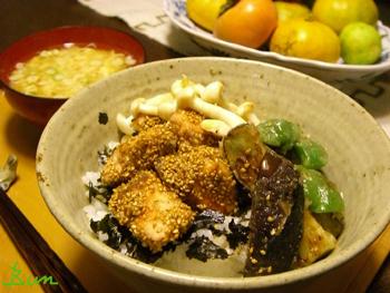 Nov04g_鮭と野菜丼