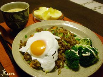 Dec16_ナシゴレン風半熟玉子のせ炒飯