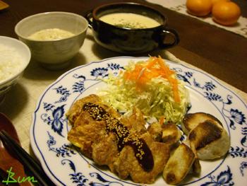 Dec25_ポークピカタと里芋の素焼き