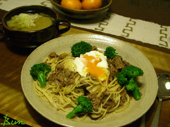 Jan06_牛肉の佃煮パスタ