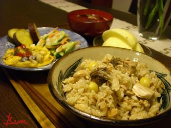 Feb12_圧力鍋で炊いた鶏の炊込みご飯