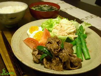 Mar09_牛肉とピーマンの炒めもの