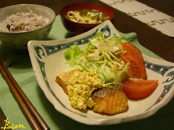 Mar16_サーモンのバター醤油ソテー