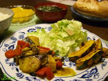 Apr27_さわらと野菜のカレー風味炒め