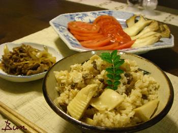 Apr30_筍としじみの炊込みご飯