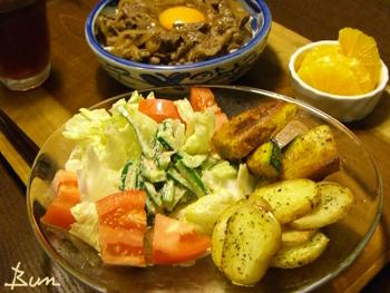 Jly07_カリカリじゃが芋とカボチャのサラダ