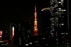 東京タワー 暗