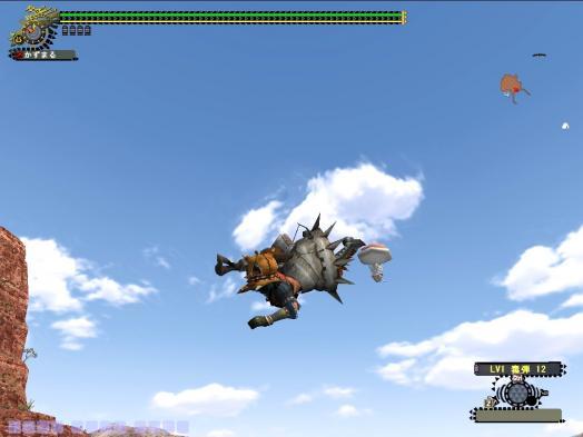 エリア4で風が出る穴からジャンプ!
