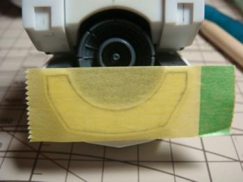 マスキングテープで転写1