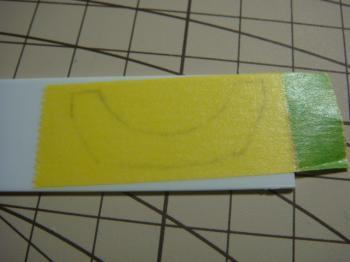 マスキングテープで転写2