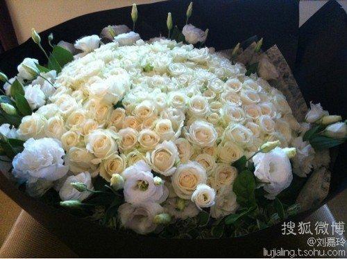 カリーナに届いた花束