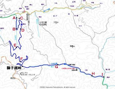 小田深山森林軌道地図2