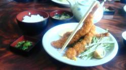 ジャンボ海老フライ定食