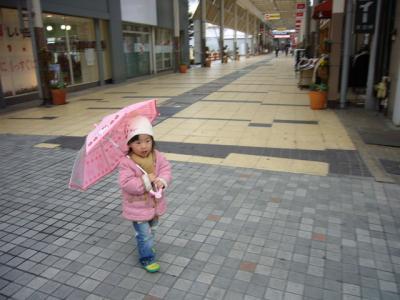 傘をさした羽桜