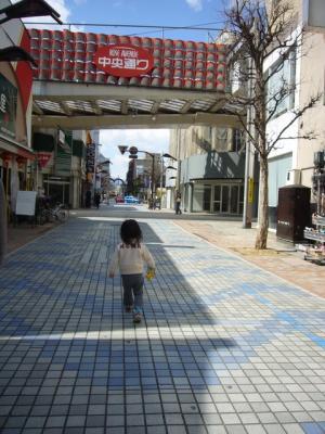 街中を歩く羽桜