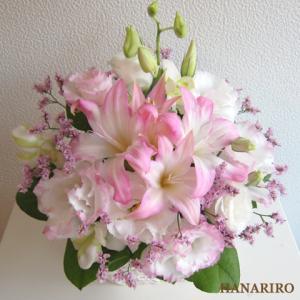 ピンク系のお花-インターネット宅配花屋さん花RiRo