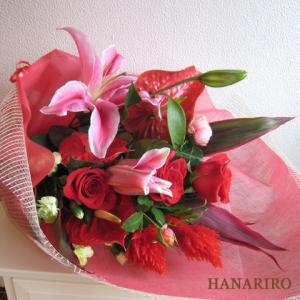赤系のお花-インターネット宅配花屋さん花RiRo