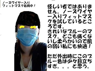 ノーズワイヤー入りフィットマスク
