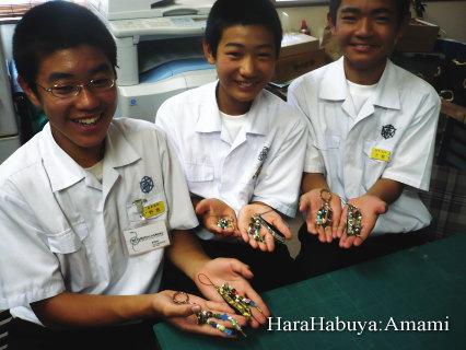 赤木名中学校の職場体験学習
