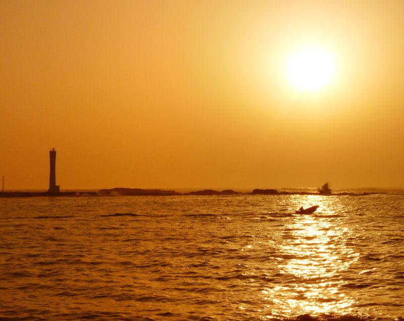 090214荒井浜夕陽1