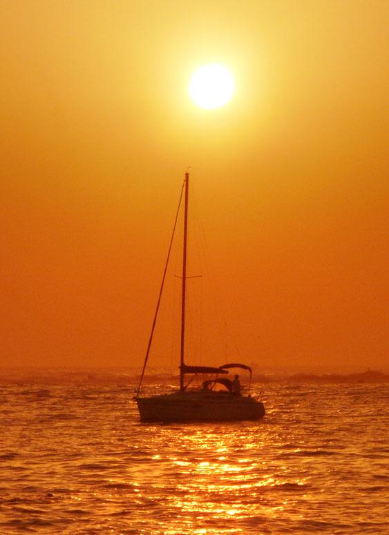 090214荒井浜夕陽2