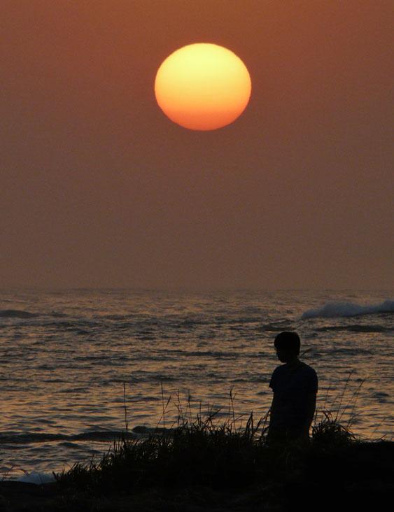 090214荒井浜夕陽5