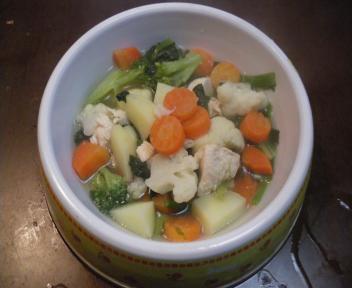チビ姫ご飯野菜スープ