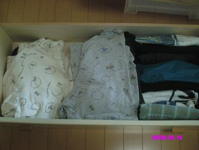 私の部屋着の引き出し整理前