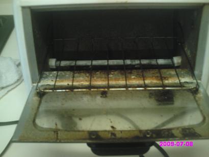 トースター中 掃除前