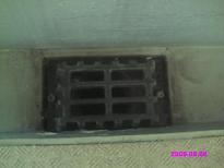 ベランダ排水溝(義母の部屋側) 高圧洗浄後