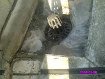 ルーフバルコニー排水溝(東側) 高圧洗浄後