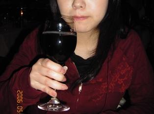 ロースとビーフ店のワイン
