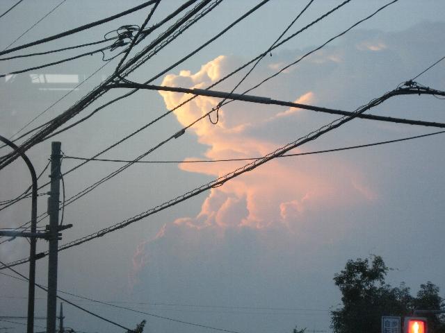 会社帰りの雲