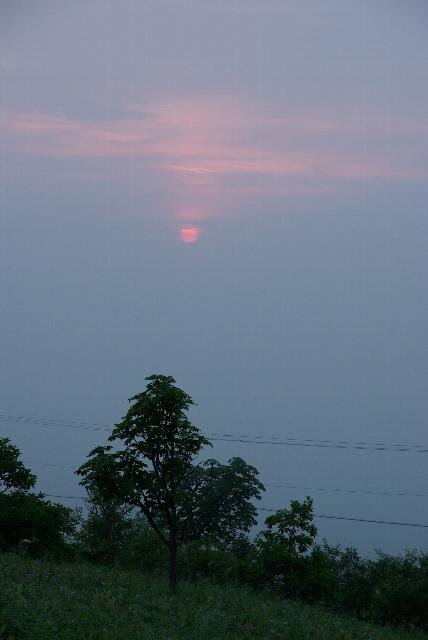 開陽台から朝日