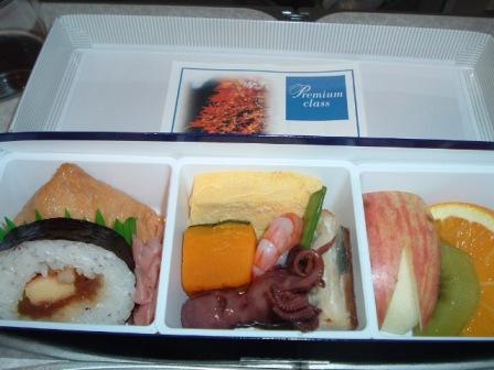 神戸ー那覇プレミアムクラスの機内食
