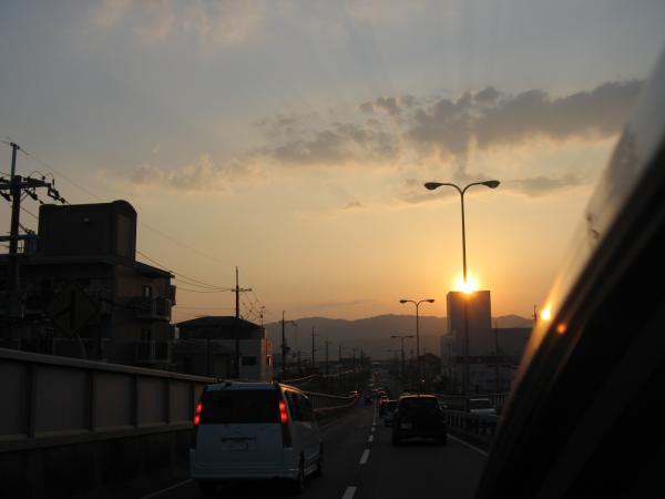 夕日がきれいだった♪