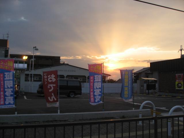 キレイな夕日♪