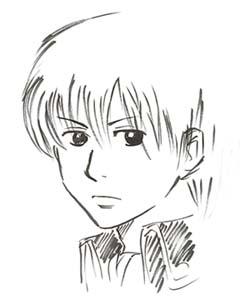 筆ペンで沖田君