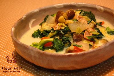 豆乳スープ。