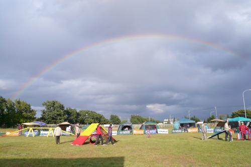 北海道の虹