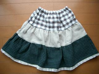 ティアードスカート(100cm)