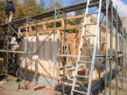 美容室「デインプルヘアー」新築工事 上棟1