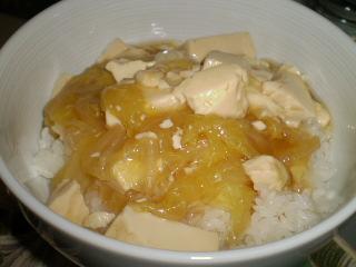 豆腐と白菜のあんかけご飯